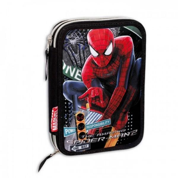 Пенал двойной с наполнением Человек Паук (Spiderman)