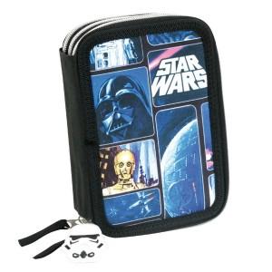 Пенал тройной с наполнением Звездные войны (Star Wars Space), 05162