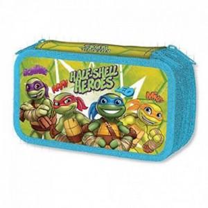 Пенал Ninja Turtles, тройной, с наполнением