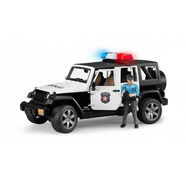 Джип полиции Jeep Wrangler Unlimited c полицейским и аксессуарами, 02526 Bruder