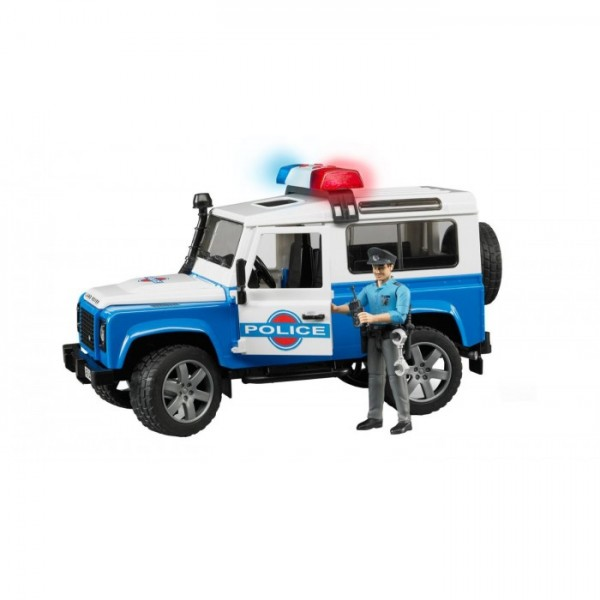Джип Police Land Rover Defender Station Wagon c полицейским, 02595 Bruder
