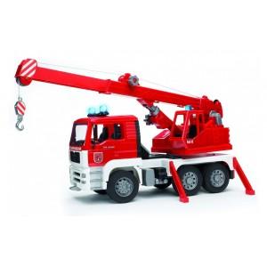 Пожарный автомобиль MAN с краном, светом и звуком, Bruder 02770