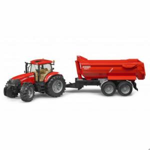 Трактор Case IH PUMA CVX 230 с опрокидывающимся прицепом на тандемных осях, Bruder 03099