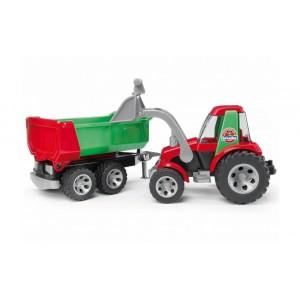 Roadmax Трактор с погрузчиком и прицепом, Bruder 20116