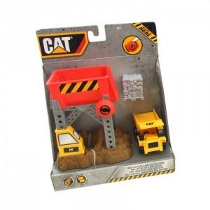 Caterpillar - Набор строительной техники с грузовиком