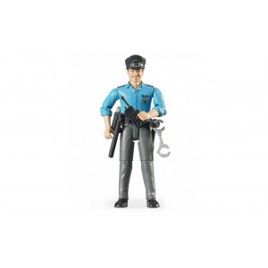 Фигурка мужчины-полицейского со снаряжением, Bruder 60050