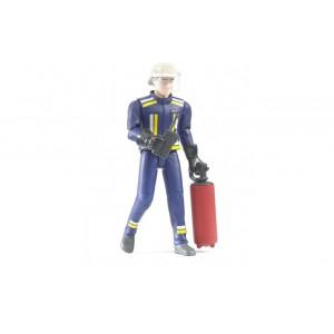 Фигурка с огнетушителем и рацией, Bruder 60100
