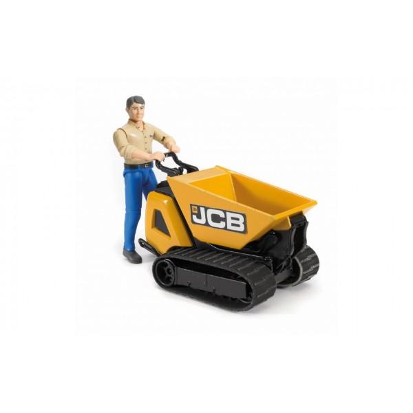 Гусеничный перевозчик сыпучих грузов - JCB Dumpster HTD-5 с фигуркой, Bruder 62004