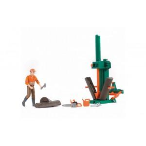 Станок для колки брёвен с рабочим, Bruder 62650