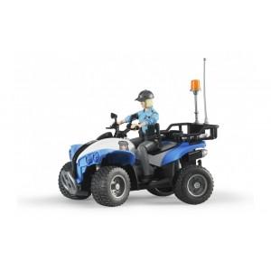 Квадроцикл  с фигуркой полицейского, Bruder 63010
