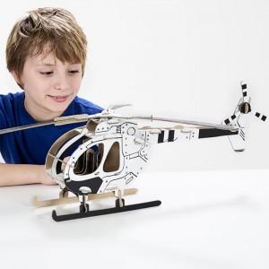 TO DO Картонный 3D-конструктор - Вертолёт