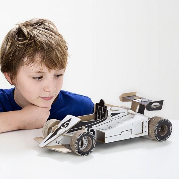 TO DO Картонный 3D-конструктор - Гоночная машина