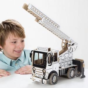 TO DO Картонный 3D-конструктор - Пожарная машина