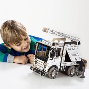 TO DO Картонный 3D-конструктор - Пожарная машина 2