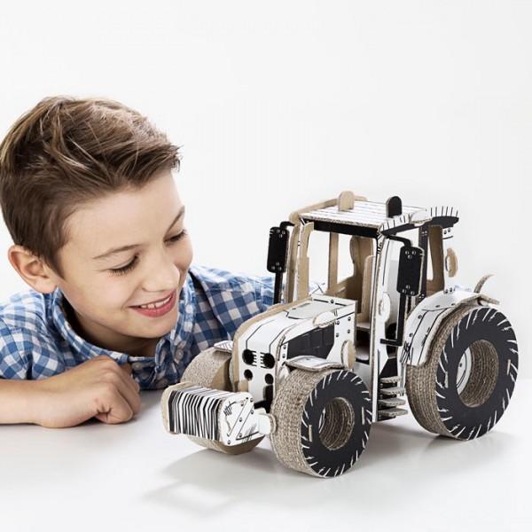 TO DO Картонный 3D-конструктор - Трактор