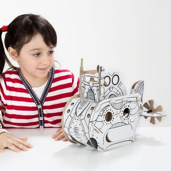 TO DO Картонный 3D-конструктор - Подводная лодка