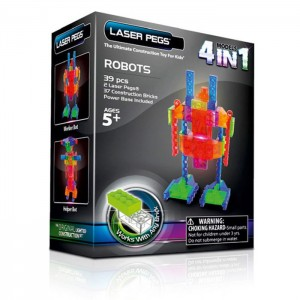 Робот 4 в 1 конструктор Laser Pegs, MPS200b