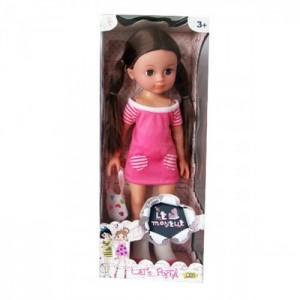 Кукла Le Monelle с сумочкой - шатенка