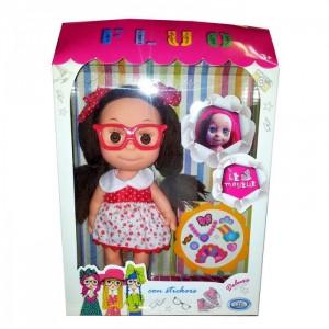 Кукла Le Monelle с наклейками шатенка