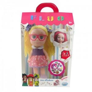 Кукла Le Monelle с наклейками блондинка