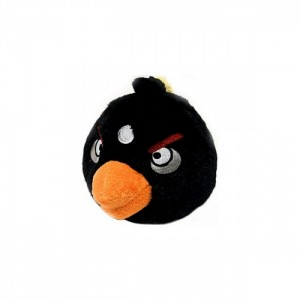 Плюшевый Angry Birds чёрный 10 см