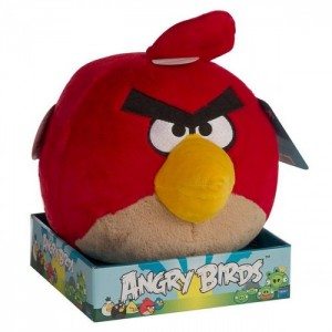 Плюшевый Angry Birds красный 30 см