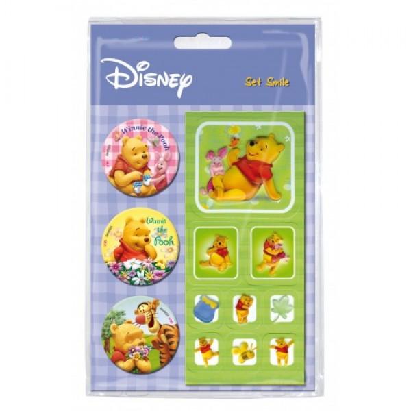 Набор Значков и Наклейек 2D Winnie The Pooh