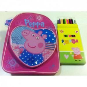 Рюкзачок + карандаши - Свинка Пеппа