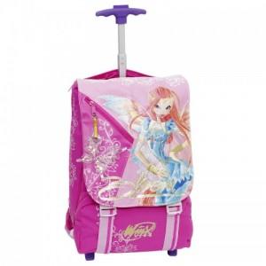 Рюкзак, чемодан на колесах Винкс + подарок наушники и полотенце