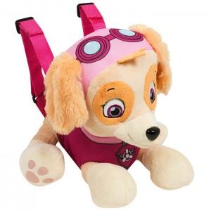 Рюкзак мягкий игрушечный плюшевый Щенячий патруль - Скай 33 см, 20365
