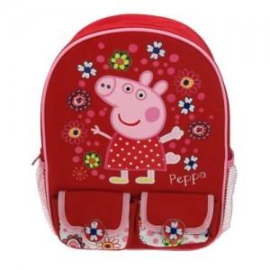 Рюкзак Peppa Pig (Свинка Пеппа) красный вместительный