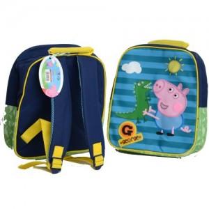 Рюкзачок Peppa Pig (Свинка Пеппа) синий на молнии