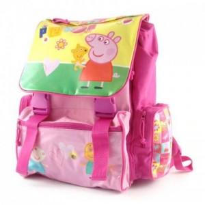 Рюкзак школьный ортопедический Peppa Pig (Свинка Пеппа) замок-защелка розовый