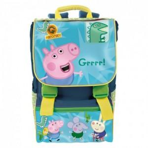 Рюкзак школьный ортопедический Peppa Pig (Свинка Пеппа) крепкая ручка для мальчика