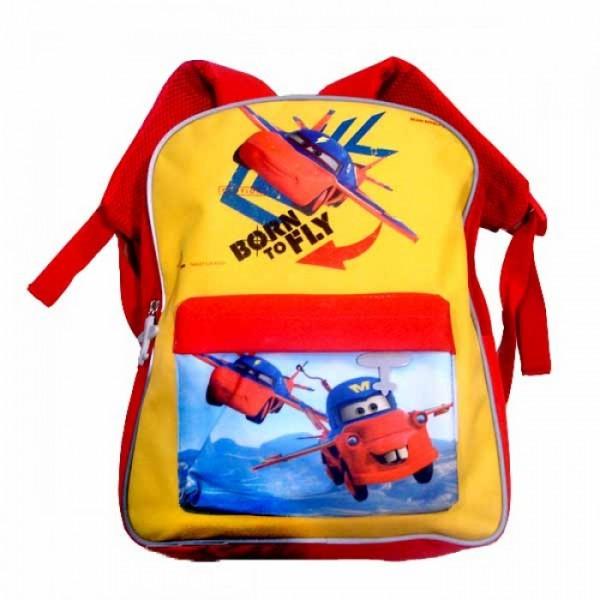 Рюкзак Cars - Fly (Тачки - Самолеты) школьный, красный