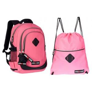 """Рюкзак + сумка для обуви """"Pro DG"""" - Розовый,  55720"""