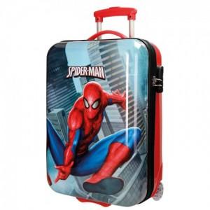 Чемодан Человек Паук (SpiderMan), вертикальный, ABS, 2 колеса, 55 см, 28177