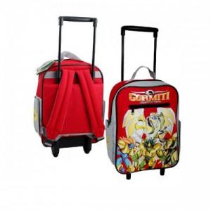 Рюкзак Gormiti (Гормити) школьный на колесах, красный