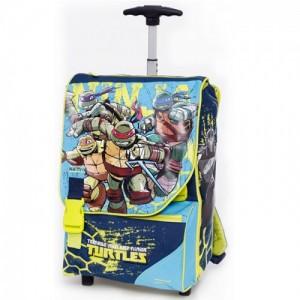 "Рюкзак, чемодан на колесах TMNT Ninja Turtles - ""Ниндзя Черепашки"" в подарок оружие"