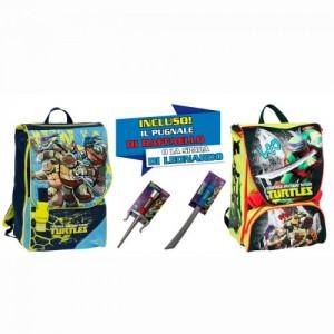 Рюкзак TMNT Ninja Turtles (Ниндзя Черепашки) для мальчика, в подарок оружие