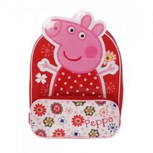 Рюкзачок мини Peppa Pig (Свинка Пеппа) для девочки, в цветочек