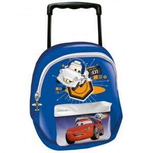 Рюкзак Cars (Тачки) школьный на колесах синий