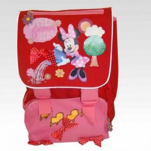 Рюкзак школьный ортопедический расширяемый Minnie красный