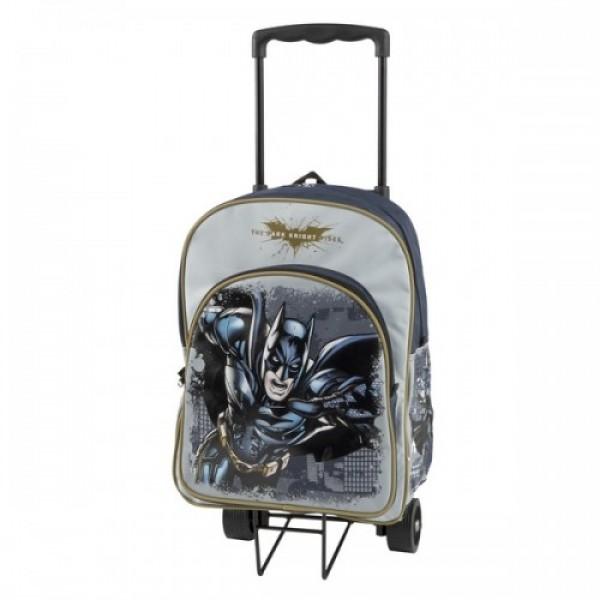 Рюкзак Batman на колесах, школьный с выдвижной ручкой