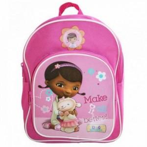 Рюкзачок - Доктор Плюшева розовый, удобный для девочки