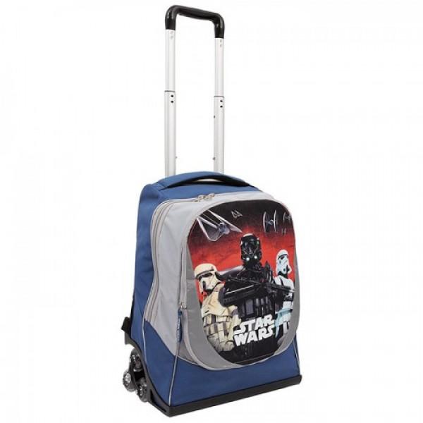 Рюкзак на тройных колесах Star Wars Rogue One (Звездные Войны) + подарок, TG901000