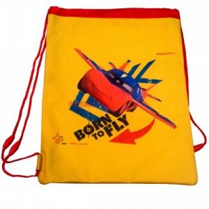 Рюкзак для обуви Cars (Тачки) спортивный жёлтый, 35 см