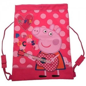 Рюкзак для обуви Peppa Pig (Свинка Пеппа) спортивный розовый