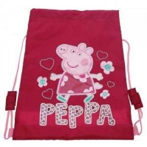 Рюкзак мешок для обуви Peppa Pig (свинка Пеппа) розовый, для спортивной одежды