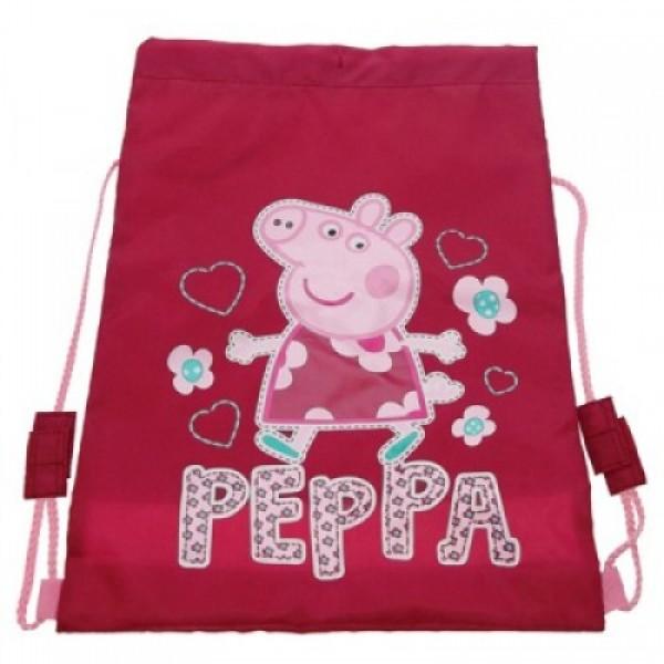0ce7e83de6dc Рюкзак мешок для обуви Peppa Pig (свинка Пеппа) розовый, для спортивной  одежды